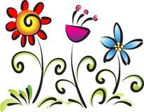 Vectir blommor Royaltyfria Bilder