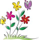Vectir blommor Royaltyfri Bild