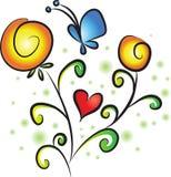 Vectir-Blumen Stockbilder