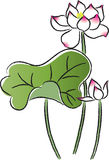 Vectir-lotes Blumen Lizenzfreies Stockfoto