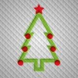 Vecto圣诞树 免版税图库摄影