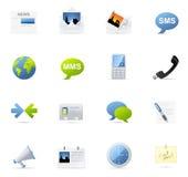 vecto иконы связи установленное Стоковые Изображения RF