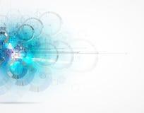抽象背景技术 未来派技术接口 Vecto 免版税图库摄影