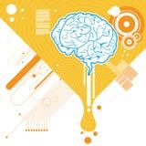 Vecto abstrait de cerveau Image libre de droits