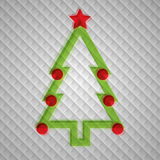 Vecto Christmas tree Royalty Free Stock Photography
