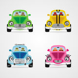 Vecto cute cars Royalty Free Stock Photography