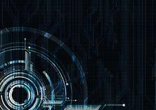 Vecto del circuito punteggiato interfaccia futuristica tecnologica astratta royalty illustrazione gratis