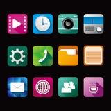Vecto del icono del App ilustración del vector