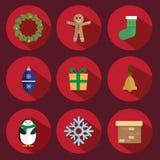 Vecto do ícone do Natal Foto de Stock