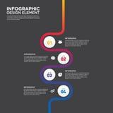 Vecto do elemento do projeto da disposição do molde do relatório comercial de Infographic Foto de Stock