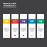 Vecto do elemento do projeto da disposição do molde do relatório comercial de Infographic Imagem de Stock
