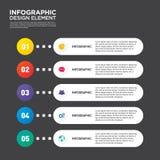 Vecto do elemento do projeto da disposição do molde do relatório comercial de Infographic Fotos de Stock