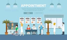 Vecto för design för lägenhet för medicinhälsovårdtidsbeställning Royaltyfri Fotografi
