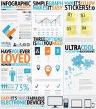 Vecto facile d'Infographic et frais rempli par typographie Image libre de droits