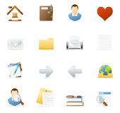 Vecto icon set - Internet and Blogging 1 Stock Photography