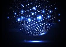 Vecto ligero global iluminado extracto tecnológico del fondo Imagenes de archivo