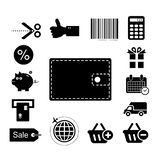 Vecto shopping online icon royalty free stock image