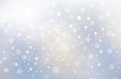 Vecto winter scene of snowfall background. Stock Photo
