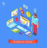 Vectoor isometric flat design royalty free illustration