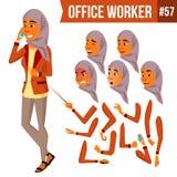 Vector árabe del oficinista Mujer Ropa tradicional islámico Hijab Oficial profesional, vendedor Negocio adulto ilustración del vector