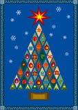 Vector a árvore de Natal estilizado com presentes ilustração do vetor