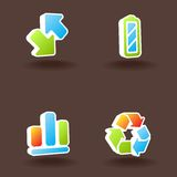 Vector ícones do Web. Jogo 3. Fotos de Stock