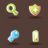 Vector ícones do Web. Jogo 4. Imagens de Stock Royalty Free
