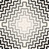 Vector абстрактная безшовная картина с изогнутыми волнистыми увядая линиями иллюстрация штока