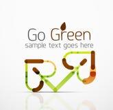 Vector абстрактная идея логотипа, лист eco, завод природы, зеленый значок дела концепции Творческий шаблон дизайна логотипа Стоковые Фотографии RF