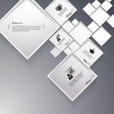 Vector абстрактная иллюстрация предпосылки квадратов/infographic шаблон с местом для вашего содержания Стоковые Изображения