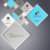 Vector абстрактная иллюстрация предпосылки квадратов/infographic шаблон с местом для вашего содержания Стоковое Изображение RF