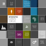 Vector абстрактная иллюстрация предпосылки квадратов/infographic шаблон Стоковые Фото