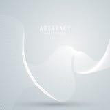 Vector абстрактная предпосылка с белой сеткой, линиями волн Стоковое Фото