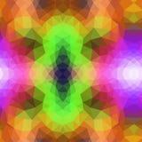 Vector абстрактная скачками предпосылка полигона с триангулярным Стоковая Фотография