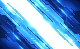Vector абстрактная футуристическая высокая предпосылка цвета цифровой технологии голубая, сеть иллюстрации Стоковые Изображения RF