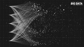Vector абстрактные красочные большие данные по данных сортируя визуализирование Социальная сеть, финансовый анализ комплекса Стоковое фото RF