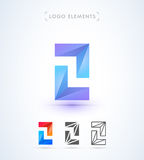 Vector абстрактные стрелки и шаблон логотипа письма z Применение i Стоковые Изображения RF
