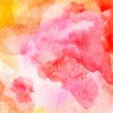 Vector абстрактный яркий красный цвет, апельсин, желтый цвет, розовая предпосылка акварели для поздравительных открыток дизайна и иллюстрация штока