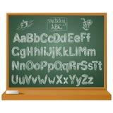 Vector алфавит написанный рукой схематичный дальше для ваших польз бесплатная иллюстрация