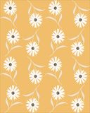 Vector безшовная абстрактная картина с белыми cornflowers на бежевой предпосылке бесплатная иллюстрация