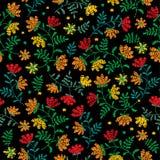 Vector безшовная декоративная флористическая картина вышивки, орнамент для оформления ткани Богемская handmade предпосылка стиля Стоковая Фотография