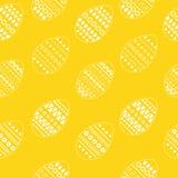 Vector безшовная картина богато украшенных белых пасхальных яя Дизайн для поздравительных открыток, ткань свежих и весны, буклет, Стоковые Фото