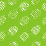 Vector безшовная картина богато украшенных белых пасхальных яя Дизайн для поздравительных открыток, ткань свежих и весны, буклет, Стоковое фото RF