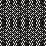 Vector безшовная картина, вертикальные тонкие волнистые линии, кривые, волны иллюстрация штока