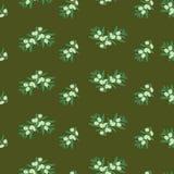 Vector безшовная картина зеленых оливок на темной предпосылке вакханические бесплатная иллюстрация
