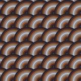 Vector безшовная картина кругов в стиле squama Стоковая Фотография