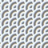 Vector безшовная картина кругов в стиле squama Стоковые Фотографии RF