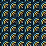 Vector безшовная картина кругов в стиле squama Стоковые Фото