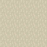 Vector безшовная картина, маленькие бежевые цветки Стоковое фото RF