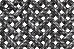 Vector безшовная картина пересекая шнуров заплетенных тканью Стоковое Изображение